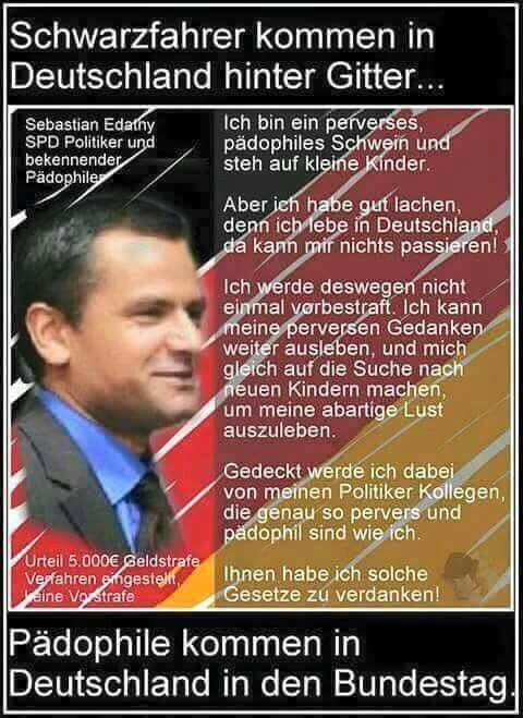 Schwarzfahrer kommen in Deutschland hinter Gitter... Pädophile kommen in Deutschland in den Bundestag