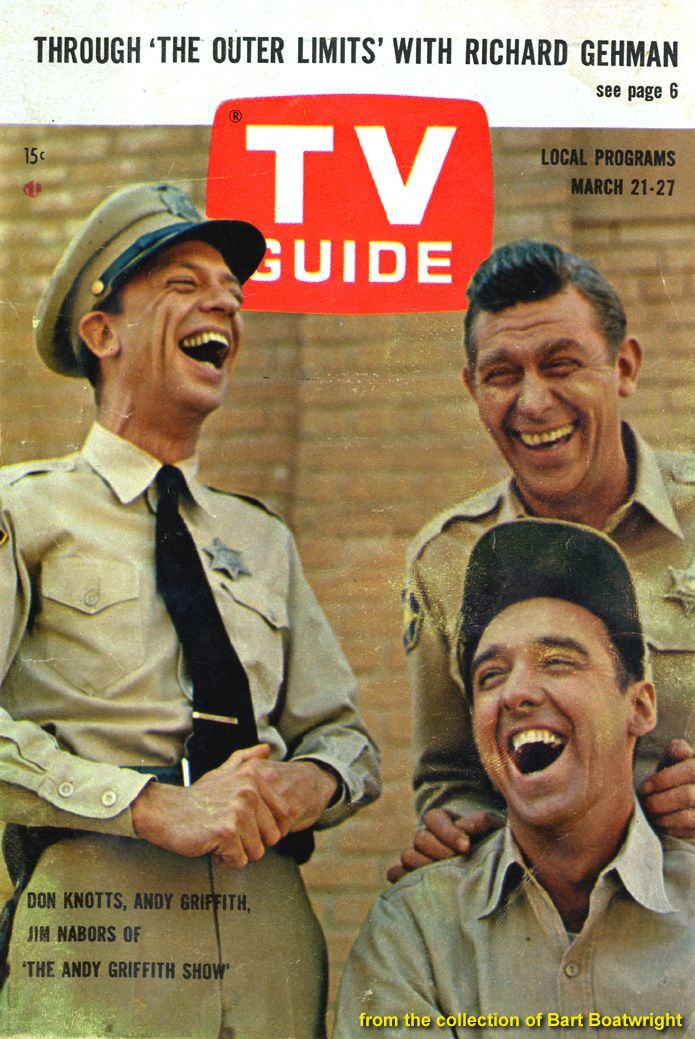 The Andy Griffith Show TV Magazine Cover, I love the genuine expressions on their faces.