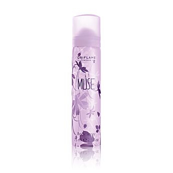 Muse Body Spray kemasan 75ml dengan keharuman dedaunan hijau serta violet dan white musk yang lembut akan lebih kuat dipadu dengan parfume Muse. http://ecatalogue.oriflame.co.id/istantripratiwi