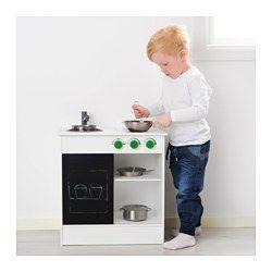 NYBAKAD Speelgoedkeuken, wit, zwart - 49x50 cm - IKEA