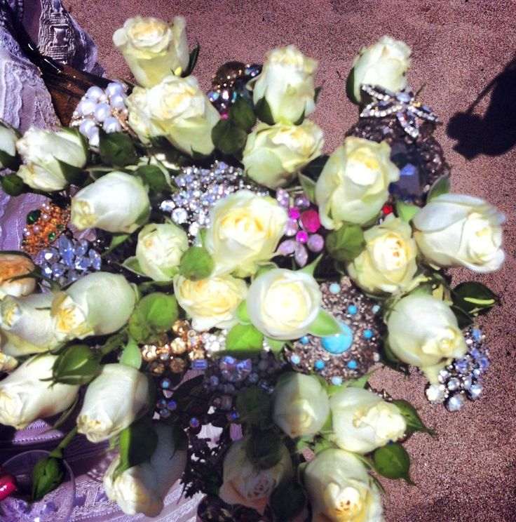 My wedding - Thurlestone 6/7/13 Handmade bouquet.