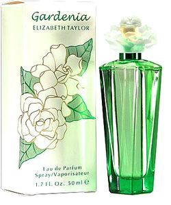 Gardenia Elizabeth Taylor for women... Gardenia by Elizabeth Taylor is a Floral fragrance for women. Gardenia was launched in 2003. Top notes are lily-of-the-valley and green leaves; middle notes are gardenia, peony and orchid; base notes are musk and carnation. I must try this!