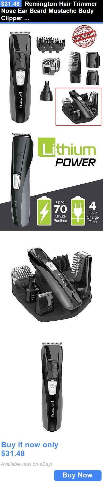Shaving: Remington Hair Trimmer Nose Ear Beard Mustache Body Clipper Cordless Rechargeabl BUY IT NOW ONLY: $31.48