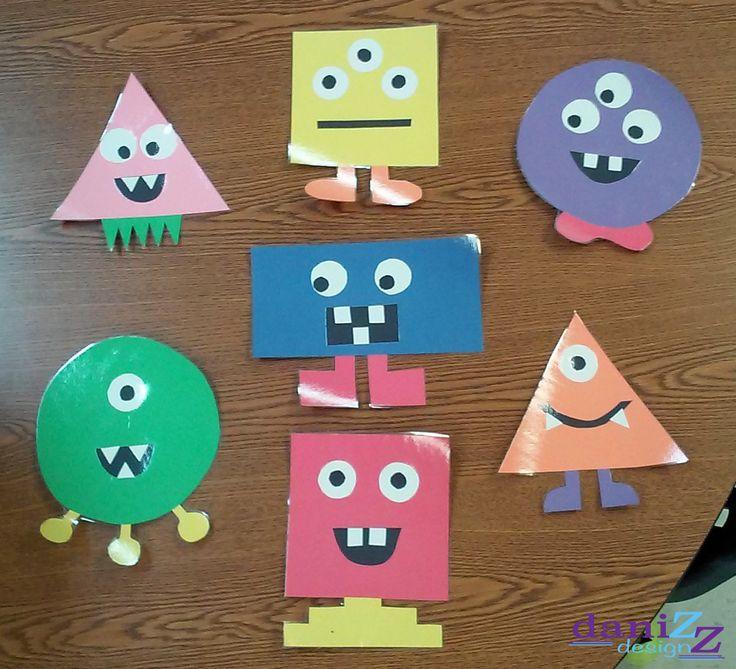 monster classroom theme, shape monsters, bulletin board decorations, monster decor, monster decorations