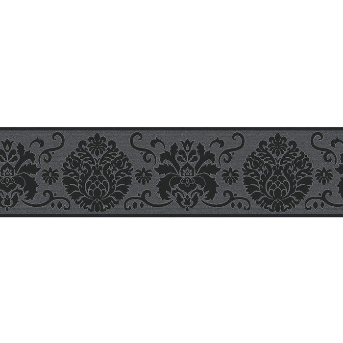 Wallpops Campbell 16 X 4 9 Damask Peel And Stick Border Wallpaper Wayfair Wall Borders Wallpaper Border Peel And Stick Wallpaper
