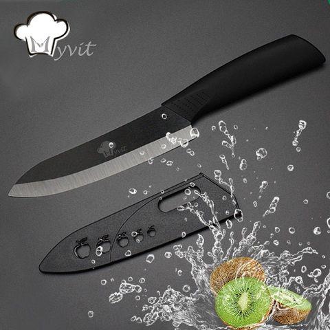 """Myvit Marca De Cerámica Cuchillo de Fruta Cuchillo de Cocina Herramientas Solo 3 ''/$ number""""/""""$ number '/' 6''Black Hoja 6 Mango de Color Cuchillo de Cocina Cuchillos"""