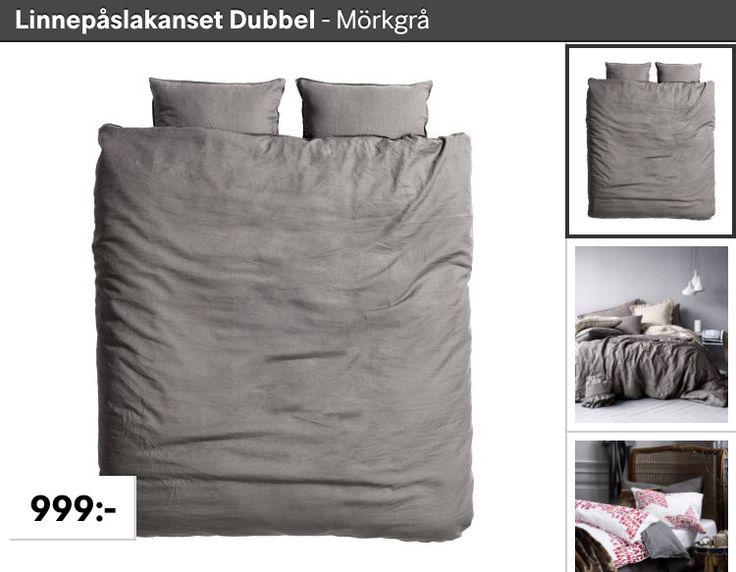 Sängkläder i linne från hm.