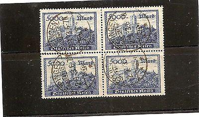 Briefmarken Deutschland vor 1945 Deutsches Reich Nr. 261 a Vierereinheit im Quadsparen25.com , sparen25.de , sparen25.info