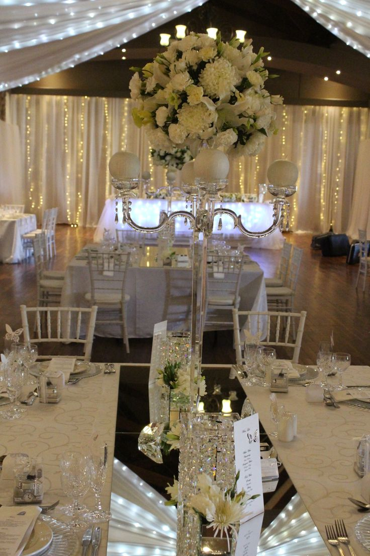 Crystal lampshades with candles to create a romantic evening