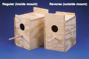 Ware Wood Nesting Box - keet Reverse (1578)