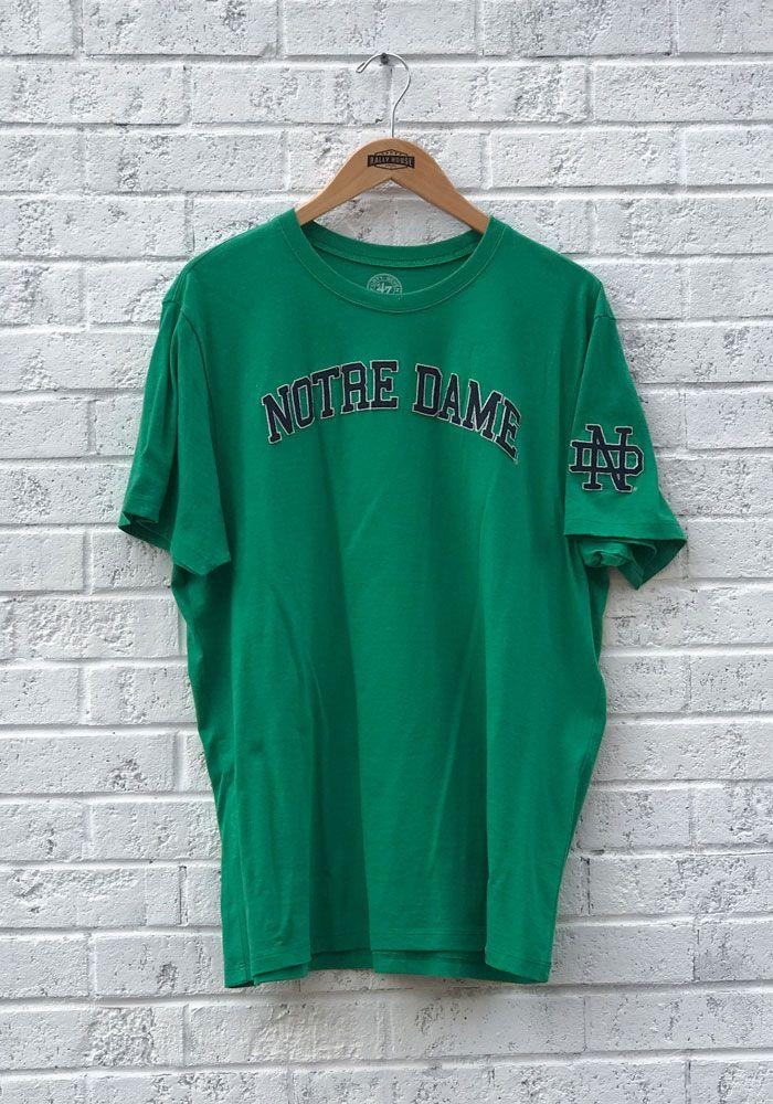 c2da2fea '47 Notre Dame Fighting Irish Green Fieldhouse Short Sleeve Fashion T Shirt,  Green, 100% COTTON, Size XL. '