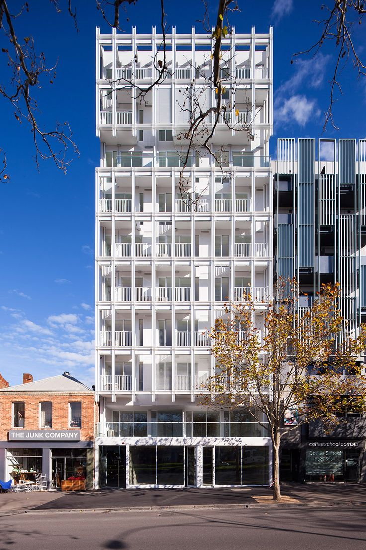 Built by Architects EAT in Melbourne, Australia with date 2014. Images by James Coombe. E589 is a compact 10 storey 55 unit residential apartment building in the City of Melbourne. Within the developer, es...