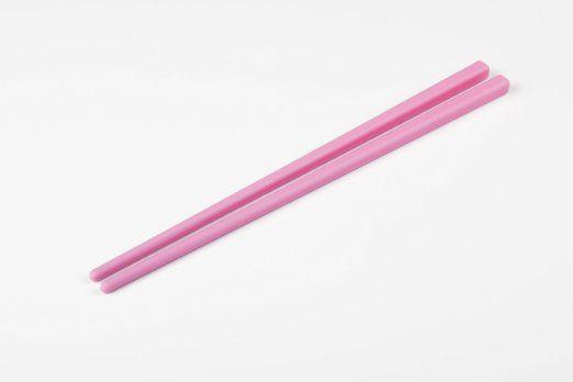 Essstäbchen / Chopsticks aus Silikon, pink, 21 cm lang, 1 Paar