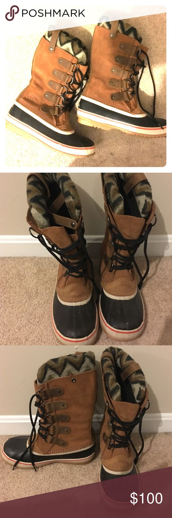 SALE: Sorel Boots Gently used Sorel Joan of Artic Boots. Great condition. Previously worn 3 times. Sorel Shoes Winter & Rain Boots
