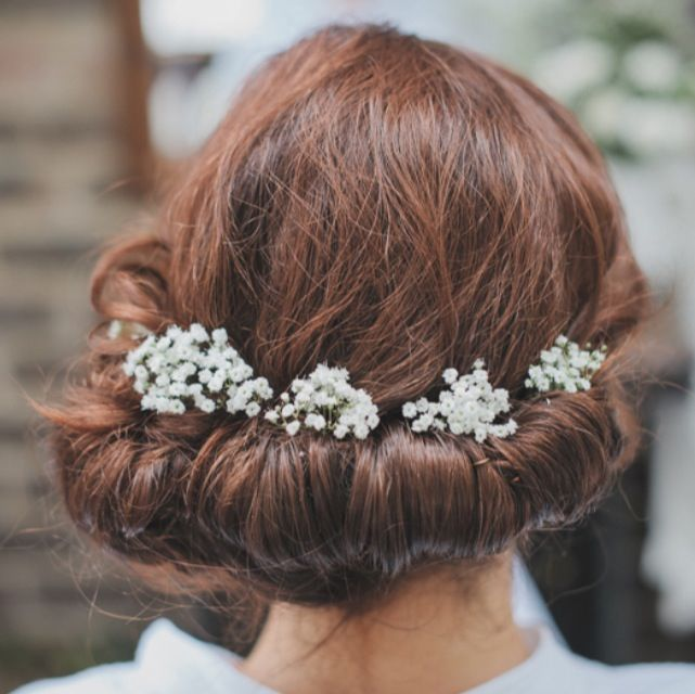 Image result for hair flowers gypsophila