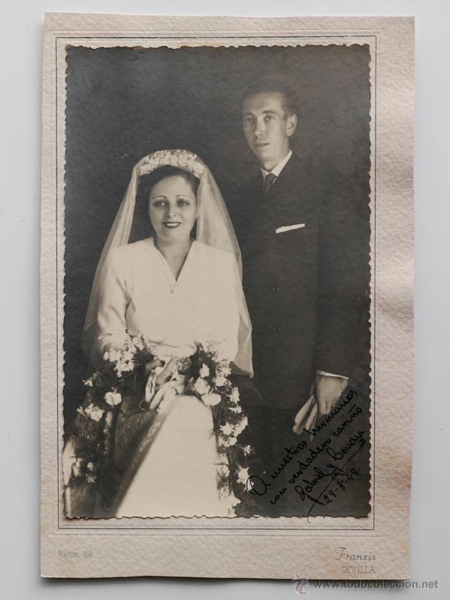 matrimonio posando en el da de su boda foto franzis sevilla el