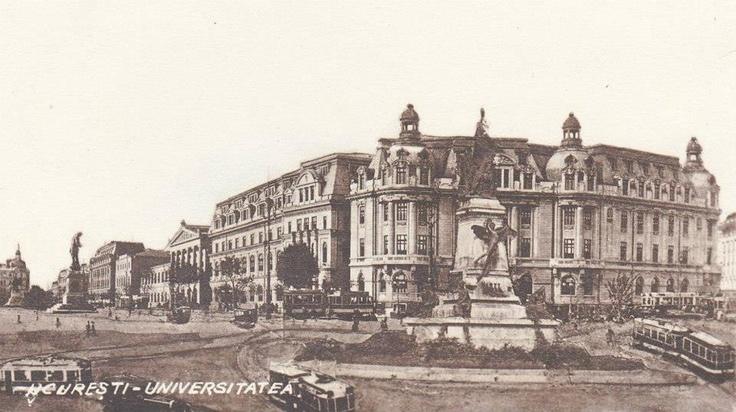 Bucuresti - Piata Universitatii - interbelica