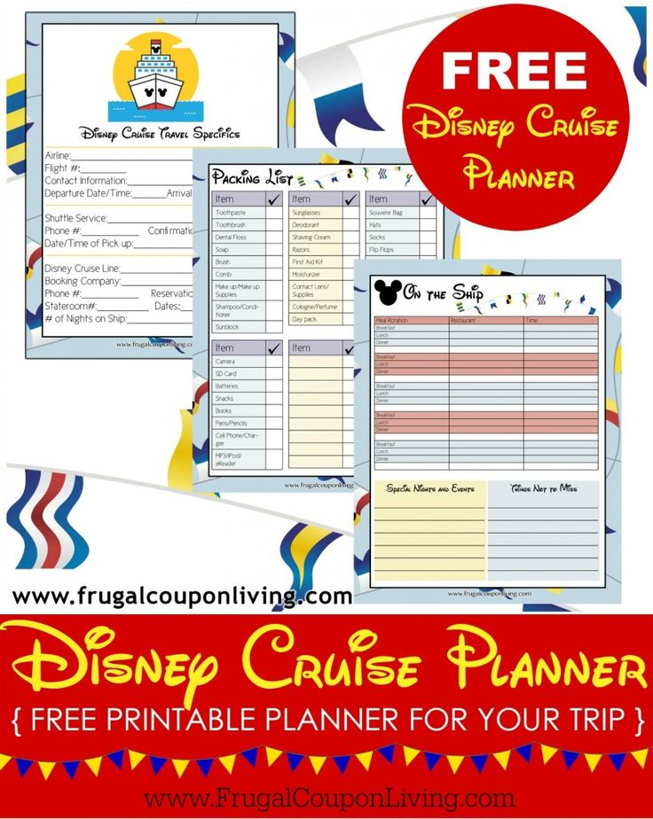 FREE Disney Cruise Planner