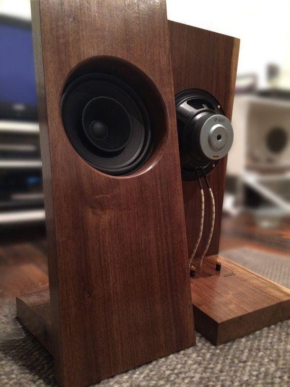Walnut Open Baffle Speakers with 8 Full Range by rcwoodshop
