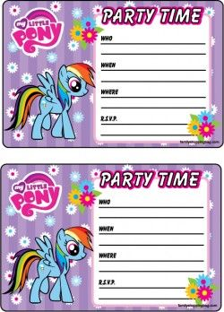 {free} printable My Little Pony Invitation 2