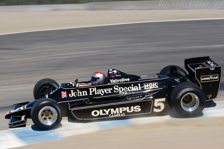 Lotus 79 Cosworth  Mario Andretti driving in what must be a demo in recent years as this corner is the corkscrew.
