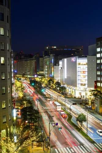 Tenjin (Watanabe street). Looking for more information aboout Fukuoka? Go Visit Fukuoka City Photo Gallery. http://showcase.city.fukuoka.lg.jp/