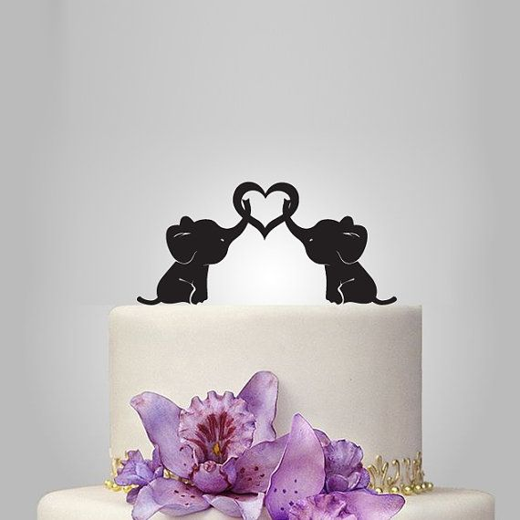 Hey, I found this really awesome Etsy listing at https://www.etsy.com/listing/205531002/baby-elephant-wedding-cake-topper-with