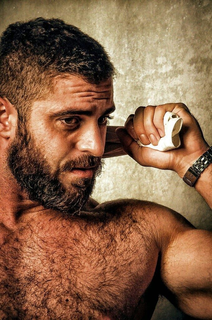 Hairy hirsute nudist model photos
