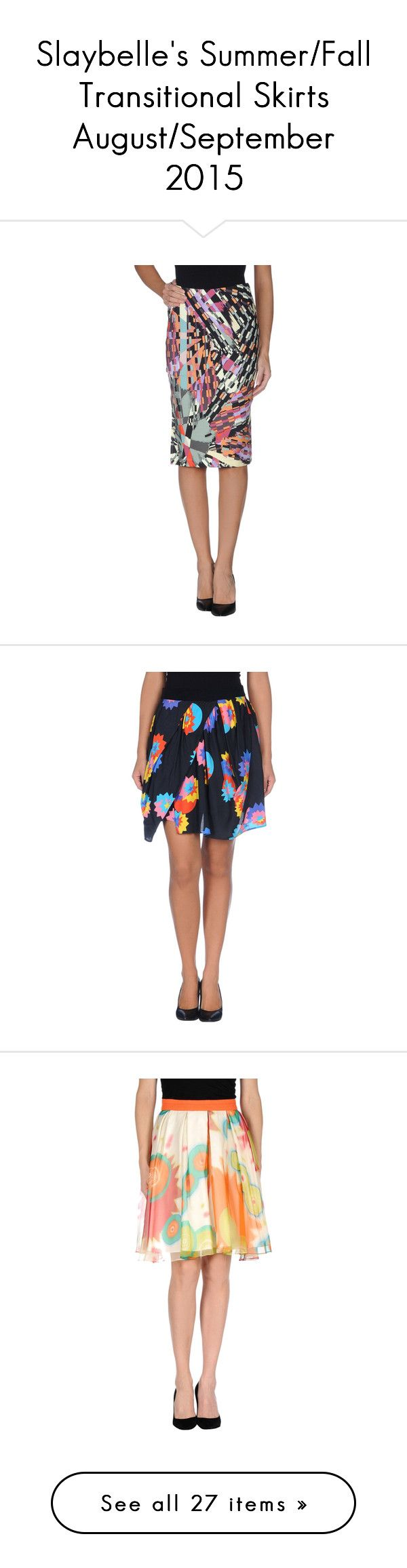 Slaybelle's Summer/Fall Transitional Skirts August/September 2015 by snsdreameress on Polyvore featuring polyvore, fashion, clothing, skirts, light yellow, tube skirt, pattern skirt, white tube skirt, print skirt, colorful skirts, black, knee high skirts, knee length a line skirt, pocket skirt, elastic waist skirt, rayon skirt, orange, a line skirt, orange pleated skirt, pattern a line skirt, knee length pleated skirt, green, cotton knee length skirt, multi color skirt, green knee length…