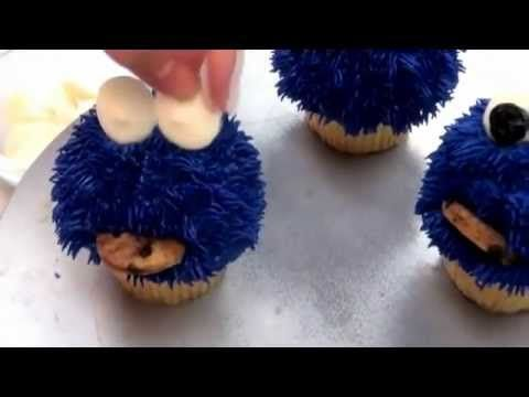 ▶ How To Make Cookie Monster Cupcakes Complete Deelite DIY #2 - YouTube