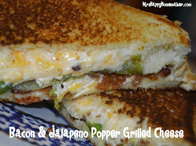 Bacon & Jalapeno Popper Grilled Cheese Sandwiches: Happy Homemaking, Yummy Food, Cream Cheese, Grilled Cheese Sandwiches, Poppers Grilled, Bacon Jalapeno Poppers, Favorite Recipes, Grilled Cheeses, Chee Sandwiches