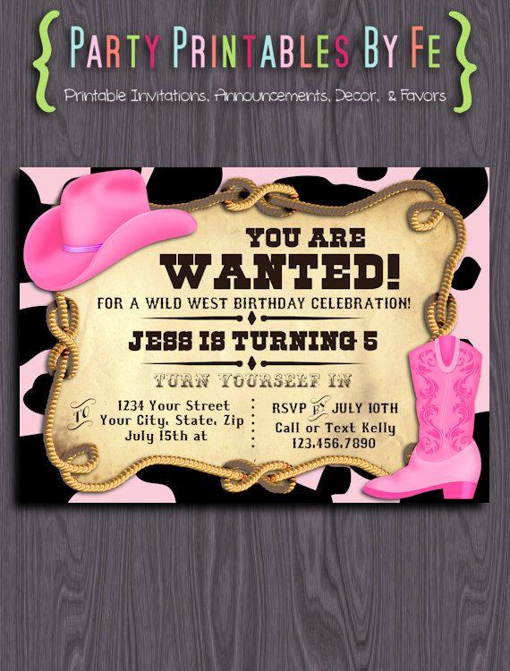 Printable Birthday Party Invitation ~ Sheriff Callie ...