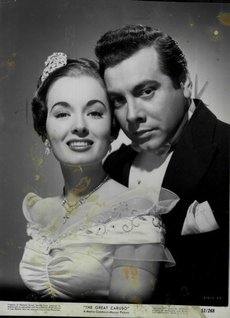 Ann Blythe Mario Lanza In The Movie The Great Caruso 1951 Mario Lanza Classic Hollywood Actresses