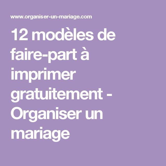 12 modèles de faire-part à imprimer gratuitement - Organiser un mariage