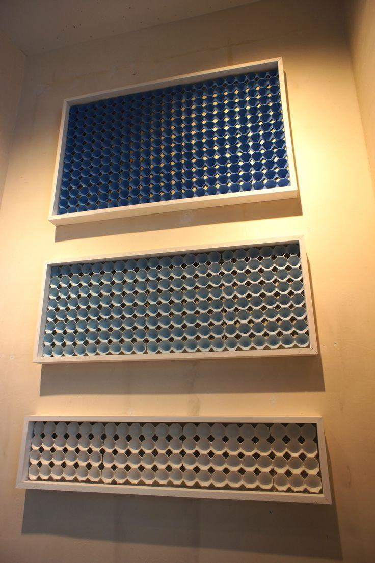 egg carton wall art