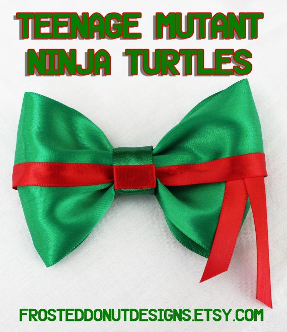 Teenage Mutant Ninja Turtles inspired Bow! Leonardo Raphael Michelangelo and Donatello!