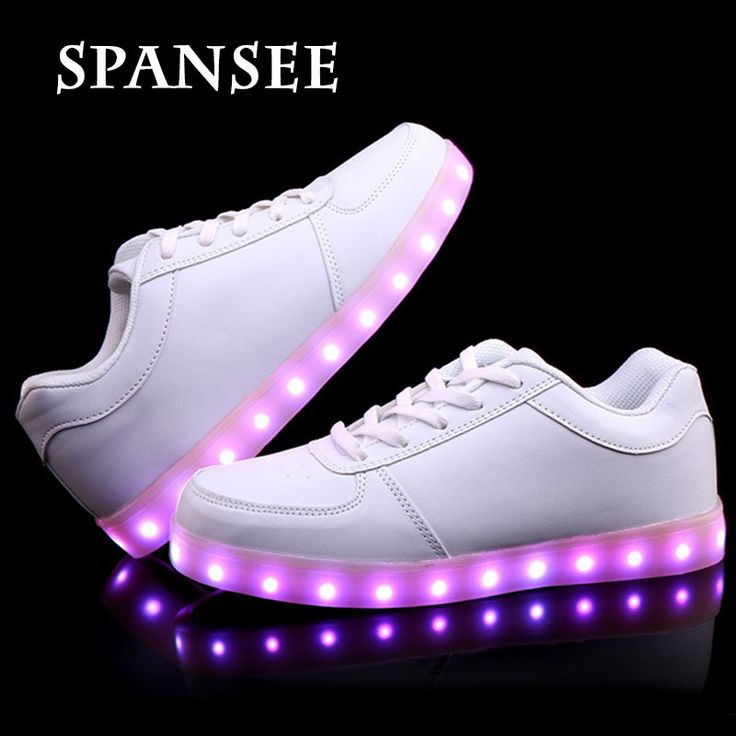 Good Quality USB LED Shoes with Light Up Sport Flash Trainers Luminous Glowing Sneakers with Light Soles Boys Kids Children 10