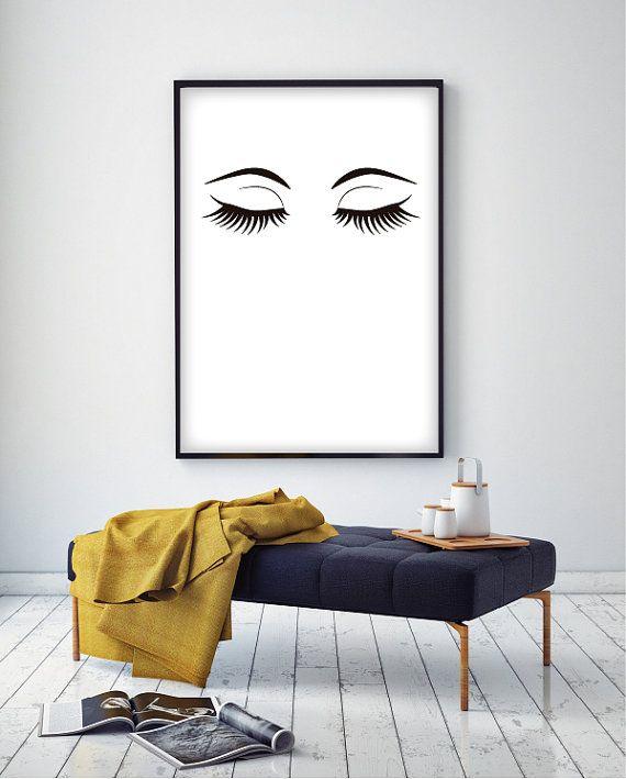Printable Fashionable Lashes Illustration by HappilyEverPrintable
