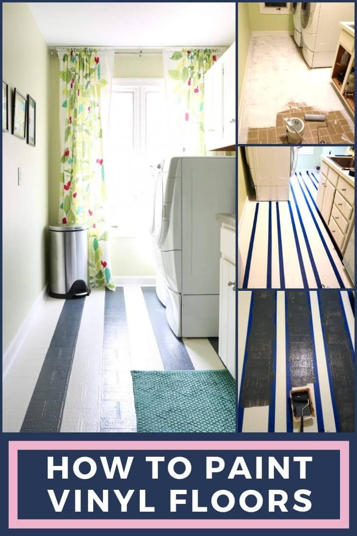 How To Paint Vinyl Floors Long Lasting Results Designer Trapped Painted Vinyl Floors Vinyl Flooring Diy Kitchen Decor