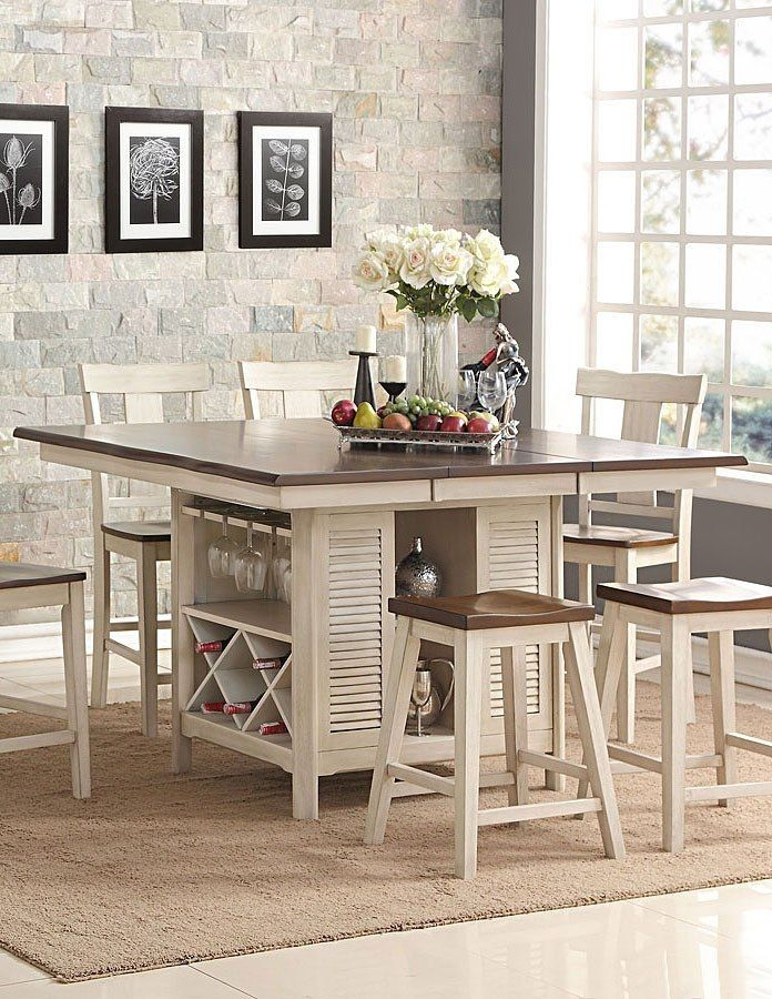 heather counter height island table