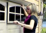 Add faux Windows to Garage door.. Only $123.00 for 2 faux Windows at Lowe's