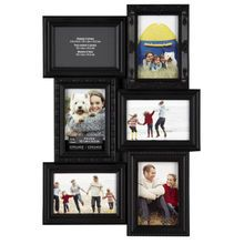 """Studio Dƒécor™ Collage Collection 6- Opening, 4"""" x 6"""" Frame, Black"""