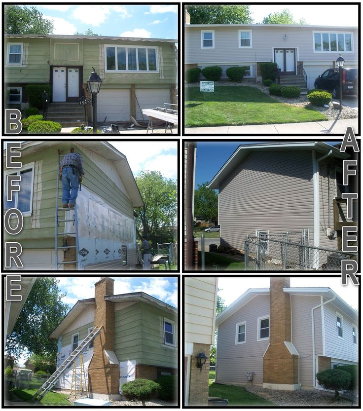 Before after pictures of energy efficient vinyl siding for Energy star vinyl windows