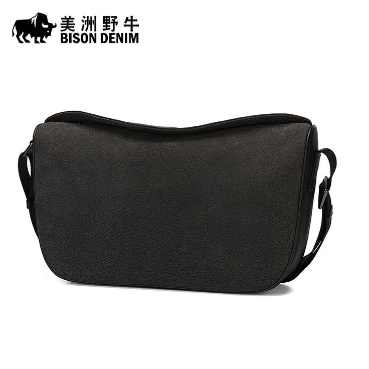 2017 BISON DENIM Brand Men Messenger Bag Top Genuine Leather Handbag Business Casual Crossbody Bag Men's Shoulder Bags Free Ship