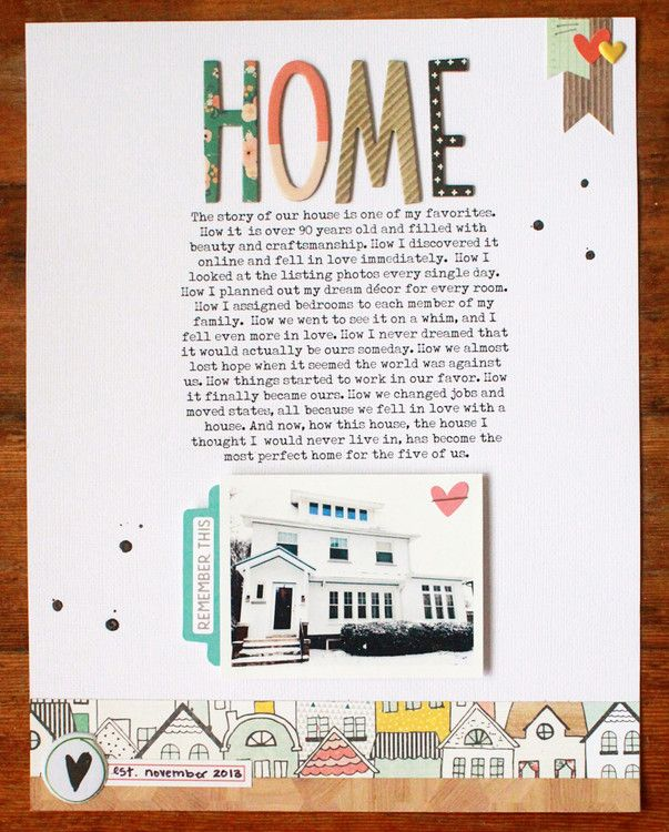 #papercrafting #scrapbook #layout - HOME by justem at @studio_calico