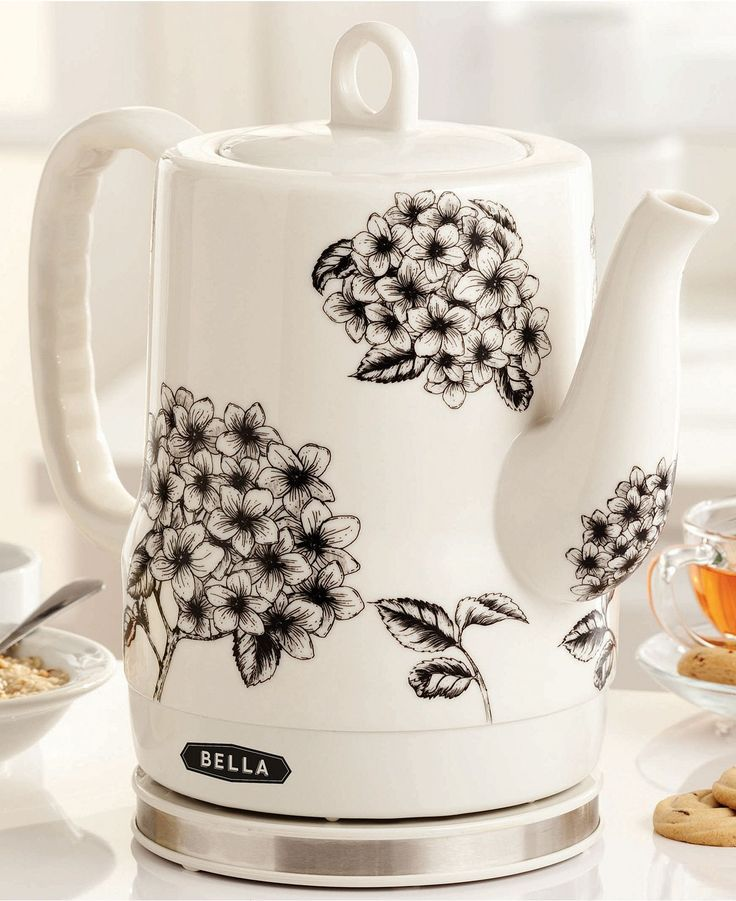 Ceramic Electric Kettle with flowers  Bella Cucina 13622 Electric Kettle, 1.2L-Macy's
