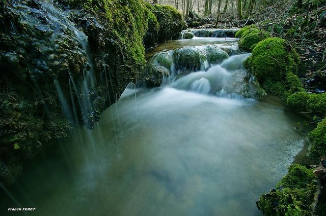 Creek in Val d'Anchet, La Franche Comte - near Dijon, France