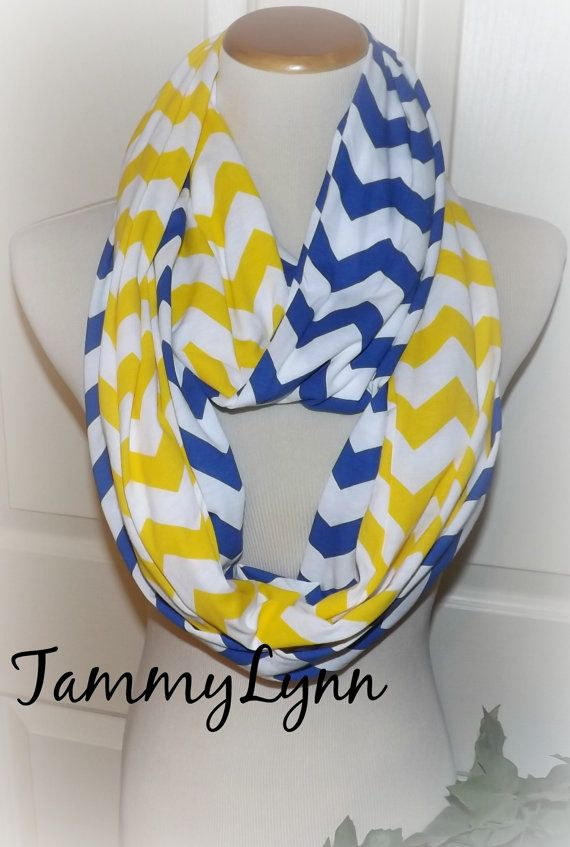 NEW Royal Blue and Yellow Long Chevron 2 by tammylynnscreations