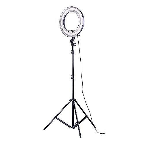 Neewe Photo Video Dimmable Ring Fluorescent Flash Light Kit Includes 14 inches 400W 5500K Photographic Ring Light 6 feet/75 inches Photography Light Stand for Relfector Softboxe Umbrella Background