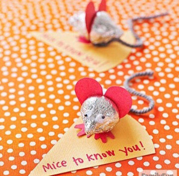 Открытка мышки на валентина